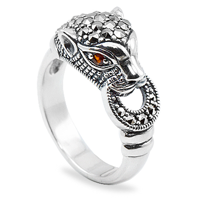 Popular marcasite ring form Asia