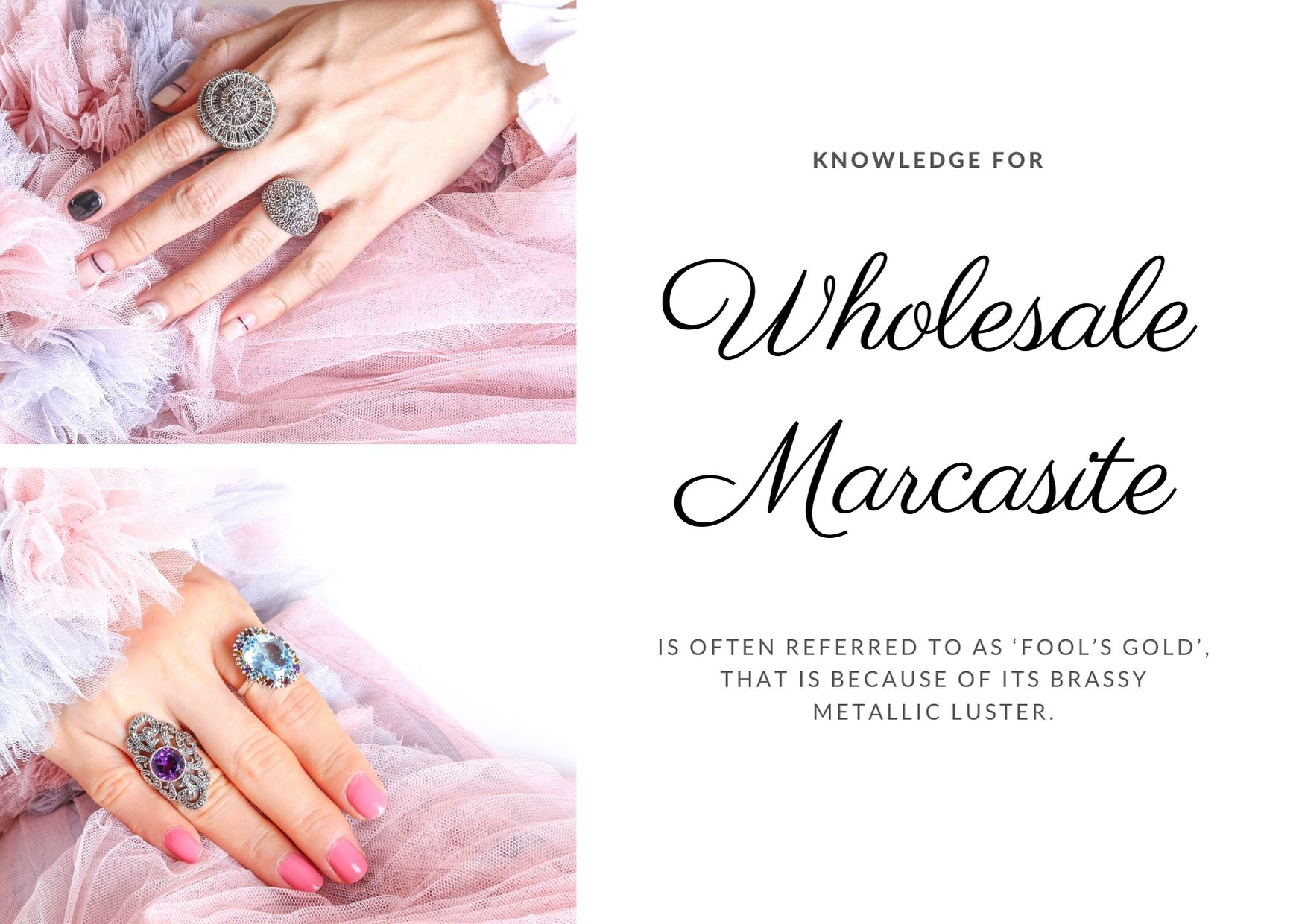 Knowledge for marcasite jewelry