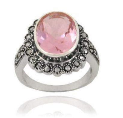 Pink Beautiful Marcasite Engagement Rings You Should Gift to Your Special One002