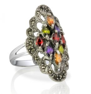 Top 3 Multicolored Antique Marcasite Rings That Are in Trends Right Now 001