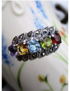 Top 3 Multicolored Antique Marcasite Rings That Are in Trends Right Now 002 1