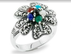 Top 3 Multicolored Antique Marcasite Rings That Are in Trends Right Now 003 1